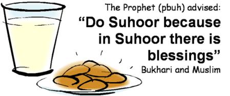hadith for suhoor