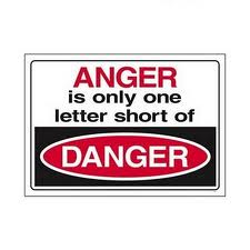 anger is one letter away from danger